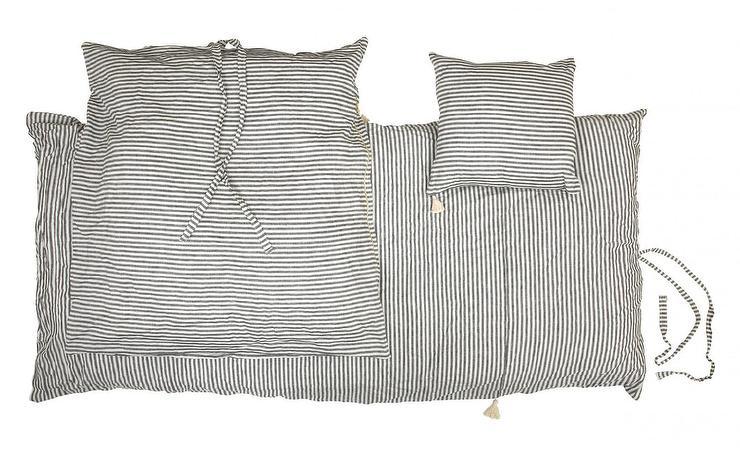 red and black chair kroehler value ticking white stripe duvet