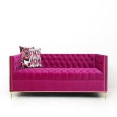 Tufted Dining Room Chairs Babies R Us High Canada Vielle Frances Meridian Fuschia Sofa