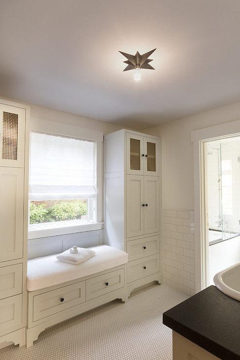 Bathroom Window Seat  Transitional  bathroom  HSH Interiors