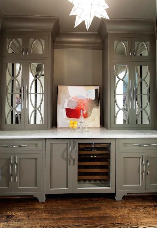 Eclipse Mullion Cabinets  Transitional  kitchen  Bria