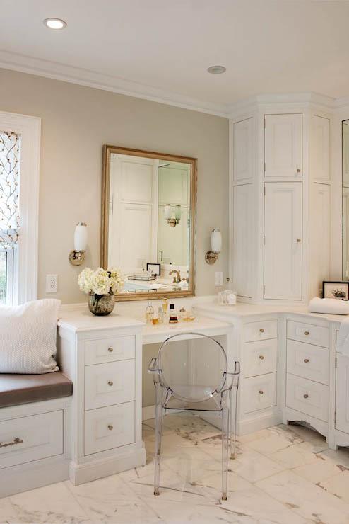 Bathroom Mirror In Front Of Window Design Ideas