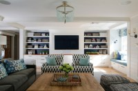 Built In Media Cabinets - Contemporary - living room ...