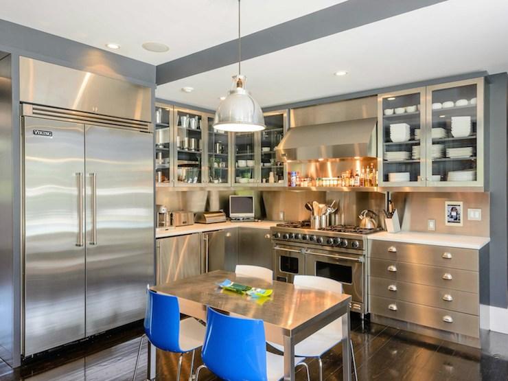 Stainless Steel Kitchen  Contemporary  kitchen  Sotheby