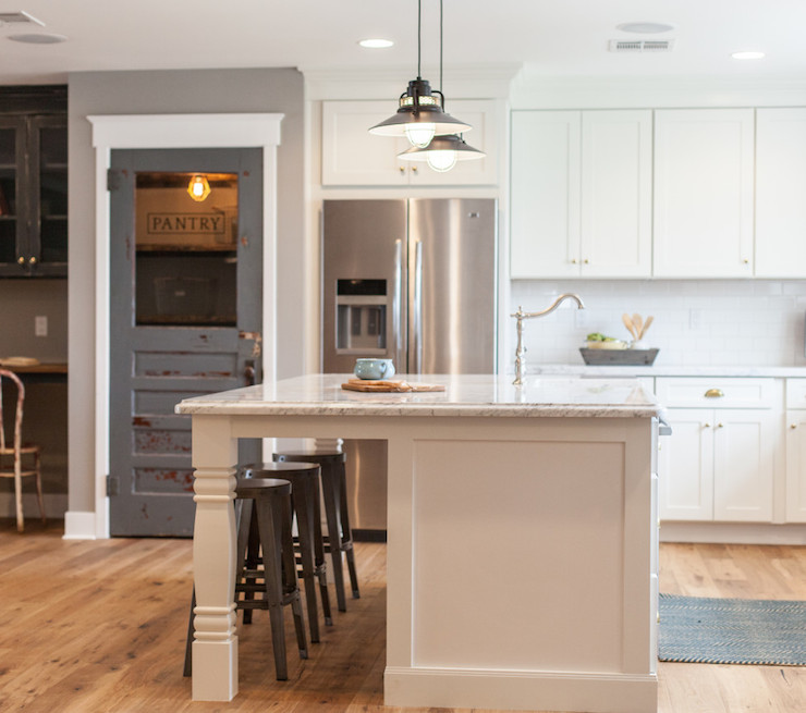 Pantry With Barn Door Contemporary Kitchen Leo