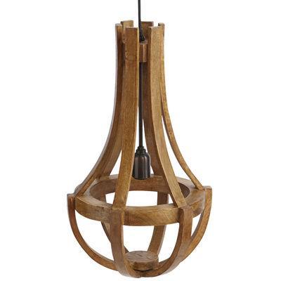 Maison Wood Pendant Lamp Pecan Brown I Pier E