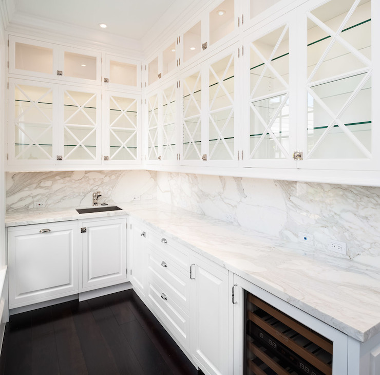 X Mullion Glass Front Cabinets Design Ideas