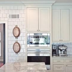 Tiled Kitchen Countertops Chrome Shelving For Glazed Backsplash - Transitional ...