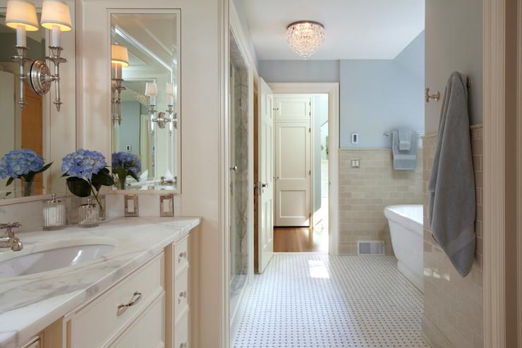 Beige Subway Tiles  Traditional  bathroom  Yunker