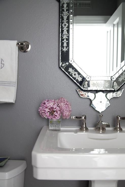 Gray Powder Rooms  Transitional  bathroom  Benjamin
