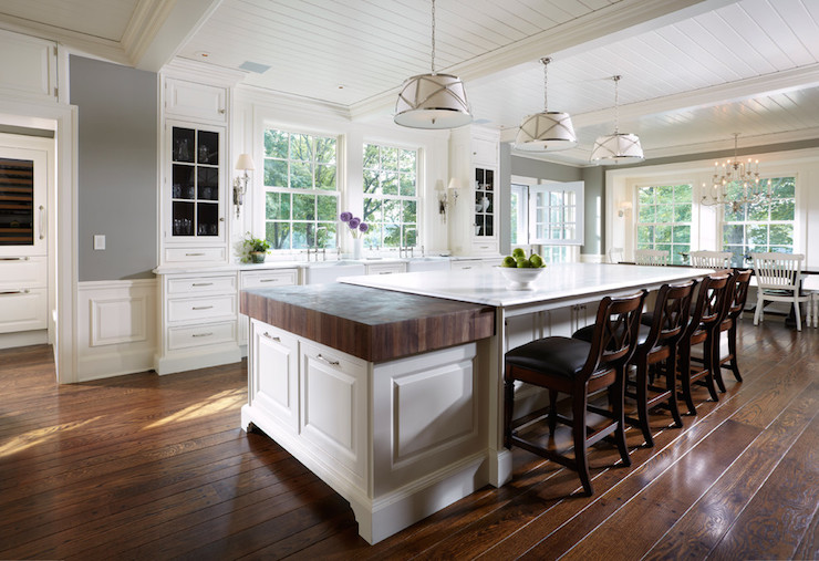 large white kitchen island lighting pendants for islands mixed countertops transitional yunker