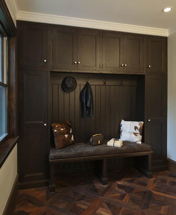 Espresso Mudroom cabinets  Transitional  laundry room