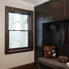 Living Room Design With Hardwood Floors Window Treatments For Dark Mudroom Cabinets - Transitional Laundry ...
