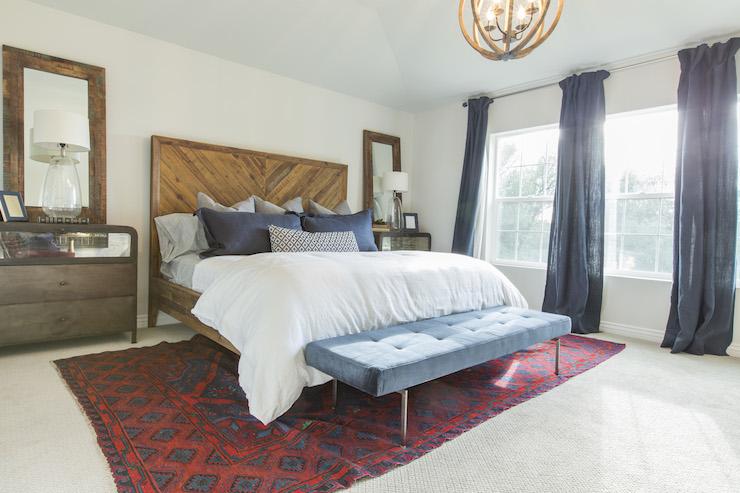 Alexa Reclaimed Wood Bed  Vintage  bedroom  Ivory Homes
