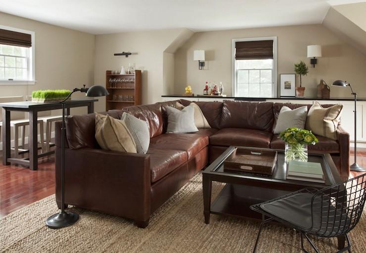 barcelona sectional sofa ottoman inflatable lounger air chair velvet - contemporary living room alice lane ...