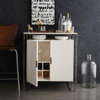 Baron Deco Bar Cabinet - White Lacquer I West Elm