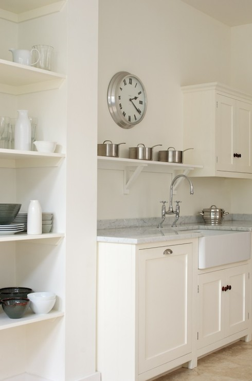 above the sink shelf transitional