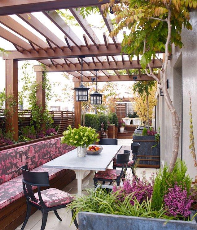 Concrete Patio Bench Design Ideas