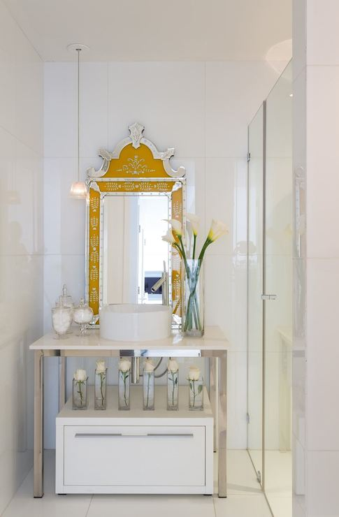 Yellow Vanity Mirror  Contemporary  bathroom  Philippe Starck