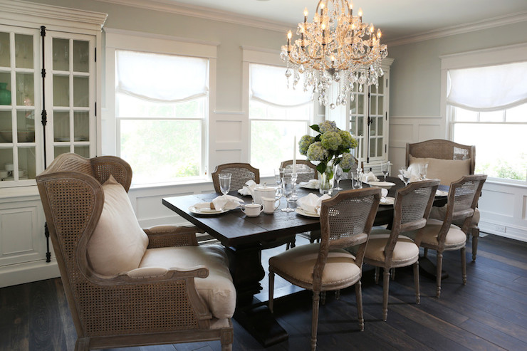 French Cane Dining Chairs French Dining Room Beach