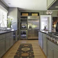 Industrial Kitchen Faucet Driftwood Cabinets Home Wine Dispenser - Transitional Nv Design