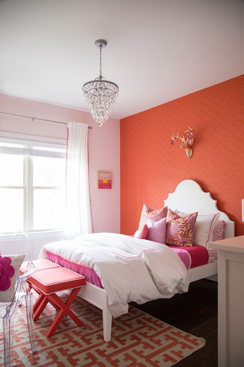 Coral Paint Colors  Contemporary  girls room  Benjamin