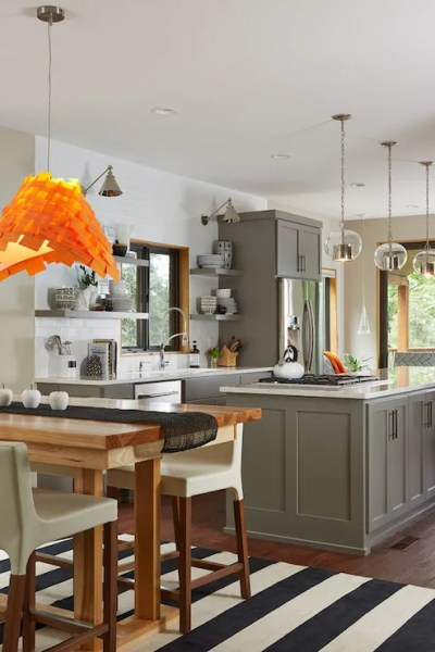 Grey Kitchen Cabinets - Transitional - Kitchen - Benjamin ...