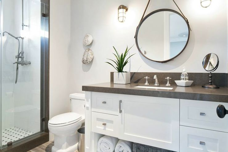 White and Gray Bathrooms  Cottage  bathroom  Kelly Nutt