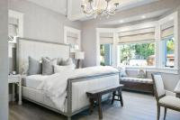 White and Grey Bedrooms - Transitional - bedroom - Kelly ...