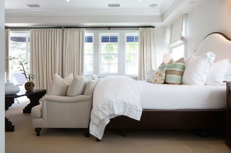 Sofa at Foot of The Bed  Transitional  bedroom  Kelly Nutt Design