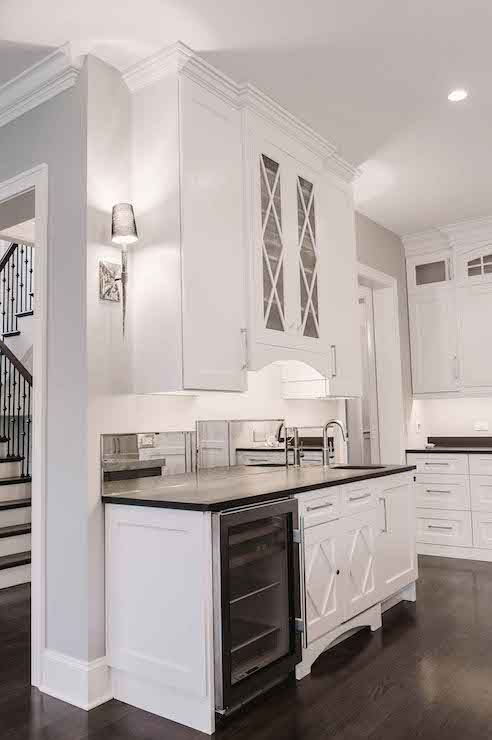 X Mullion Kitchen Cabinets  Transitional  kitchen