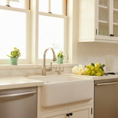 Bridge Faucets For Kitchen Chicago Remodeling Cream Marble Countertops - Transitional ...