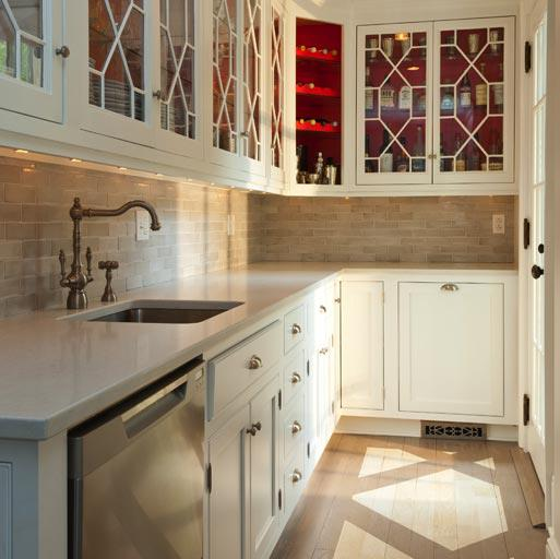 Kitchen Cabinet Inside Paint Inside Cabinets - Country - Kitchen - Bhg