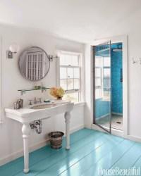 Turquoise Floors - Cottage - bathroom - Sherwin Williams ...