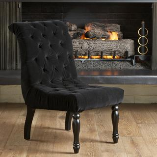 black velvet chair pottery barn slipcover reviews christopher knight home coleman tufted accent