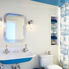 Kid Chairs Chair Arm Pads Nautical Bathrooms - Cottage Bathroom Benjamin Moore Santorini Blue Reu Architects