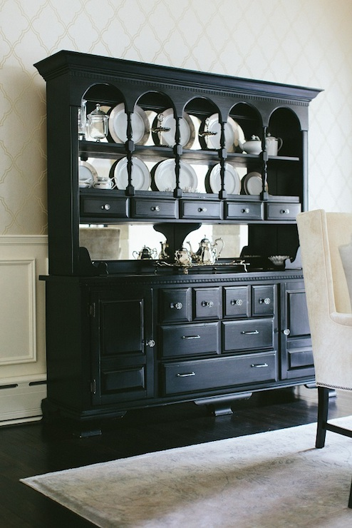 Black Buffet and Hutch  Transitional  dining room  Kate