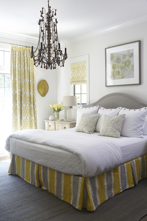 Yellow and Gray Bedrooms  Cottage  bedroom  Tracery