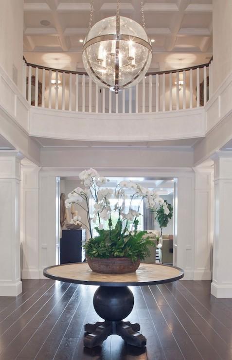 Round Foyer Table  Transitional  entrancefoyer  Brooke Wagner Design
