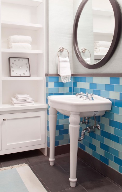 Parisian Pedestal Sink  Transitional  bathroom  Artthaus