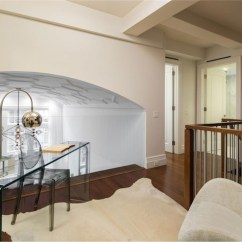Modern French Living Room Decor Ideas Black And Gold Glass Stair Railing - Transitional Entrance/foyer Blue ...