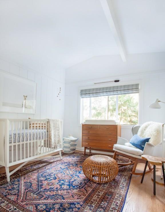 Animal Nursery Wallpaper Mid Century Modern Crib Vintage Nursery Amber Interiors