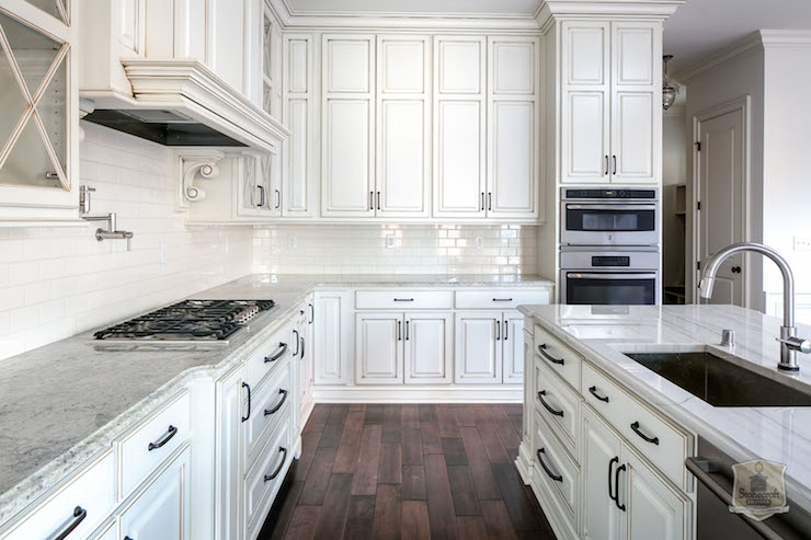 Glazed Cabinets  Transitional  kitchen  Stonecroft Homes