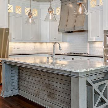 colored kitchen islands faucet installation cost weathered gray island design ideas plank