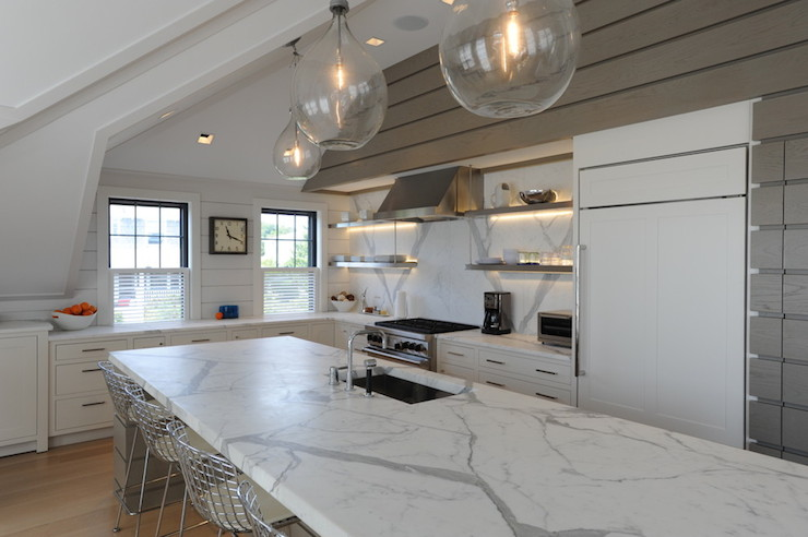 Calacatta Gold Marble Countertops  Transitional  kitchen