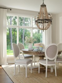 Gray French Dining Chairs - Transitional - dining room ...
