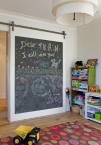 Chalkboard Barn Door - Transitional - boy's room - Brookes ...