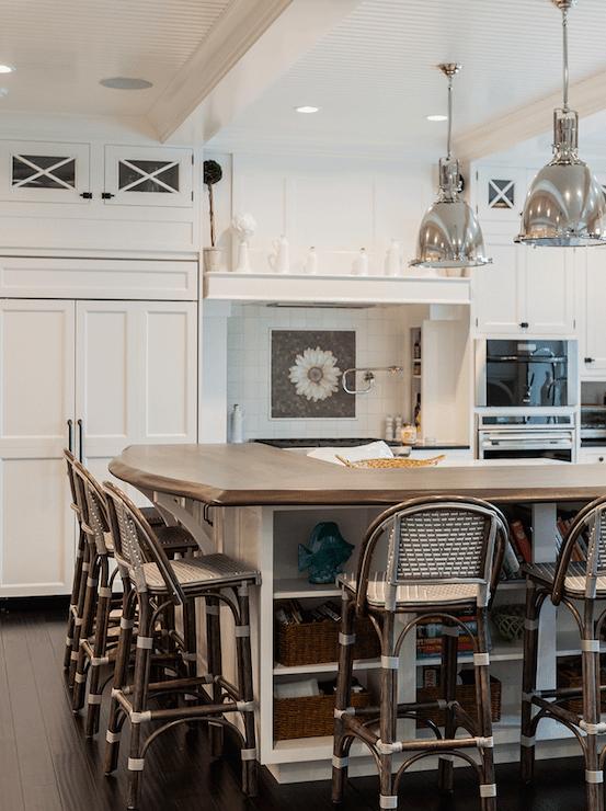 shaker kitchen island living turbo convection oven raised breakfast bar design ideas