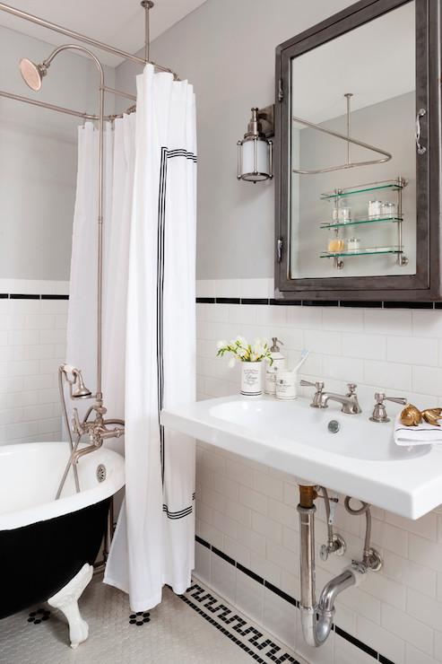 Pottery Barn Shower Curtain  Traditional  bathroom  Breeze Giannasio