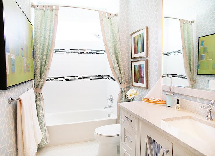 shower curtain tie backs design ideas