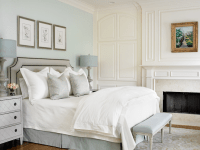 Blue and Gray Bedrooms - Transitional - bedroom - Farrow ...